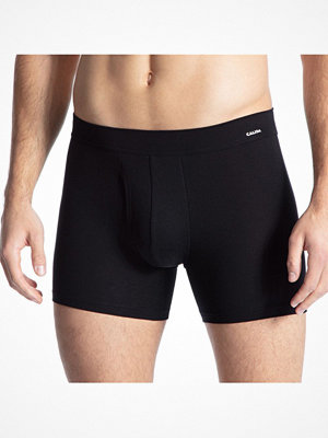 Calida Cotton Code Boxer Brief With Fly Black
