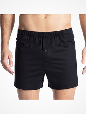 Calida Cotton Code Boxer Shorts With Fly Black
