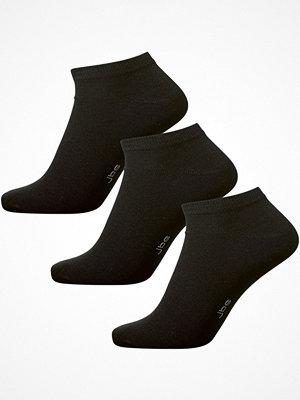 JBS 3-pack Bamboo Ankle Socks Black
