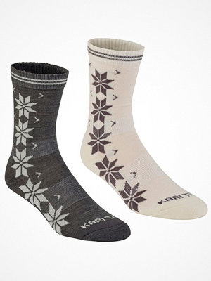 Strumpor - Kari Traa 2-pack Vinst Wool Sock White/Grey