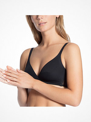 Calida Feminine Air Soft Triangle Bra Black