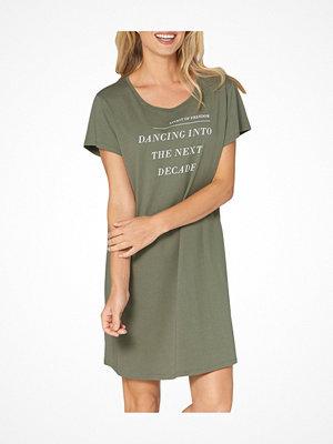 Triumph Lounge Me Cotton Nightdress Darkgreen