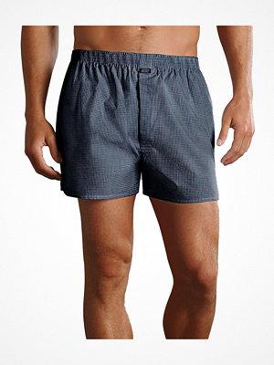 Jockey Woven Poplin Boxer Shorts Navy Checked