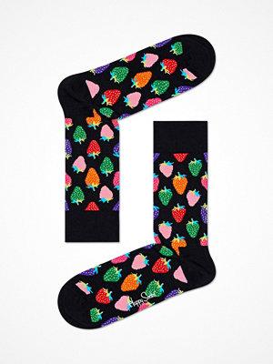 Happy Socks Happy Socks Strawberry Sock Black pattern-2