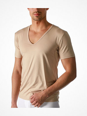 Mey Dry Cotton Functional V-Neck Shirt Beige