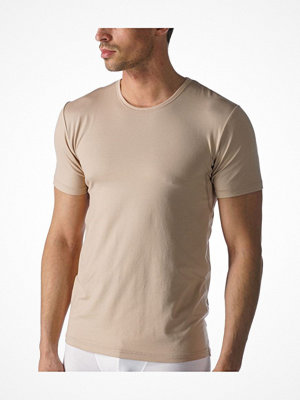 Mey Dry Cotton Functional Rounded Neck Shirt Beige