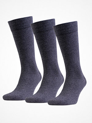 Strumpor - Amanda Christensen 3-pack True Combed Cotton Sock Anthracite