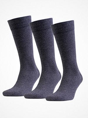 Amanda Christensen 3-pack True Combed Cotton Sock Anthracite