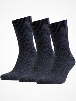 Strumpor - Amanda Christensen 3-pack Supreme Wool Sock Anthracite