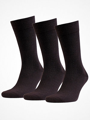 Strumpor - Amanda Christensen 3-pack Grade Merino Wool Sock Darkbrown