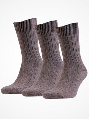 Strumpor - Amanda Christensen 3-pack Supreme Wool Sock Brown
