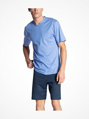 Calida Relax Imprint Short Pyjama Lightblue