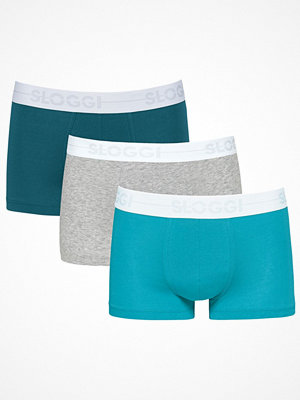 Sloggi 3-pack Men GO Hipster Grey/Turquoise