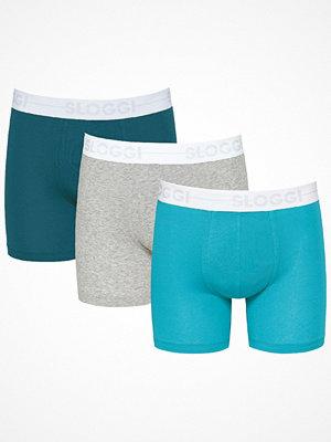 Sloggi 3-pack Men GO Short Grey/Turquoise