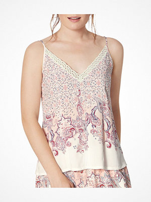 Triumph Lounge Me Natural Mix and Match Camisole  White Pattern-2