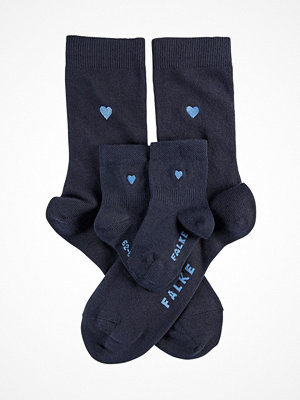 Strumpor - Falke Women Seasonal Mini-Me Set Socks Navy-2