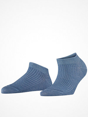 Strumpor - Falke Women Seasonal Shiny Rib Sneaker Socks Blue
