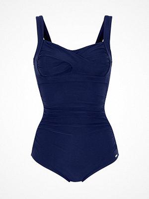 Abecita Capri Twisted Delight Prosthetic Swimsuit Navy-2