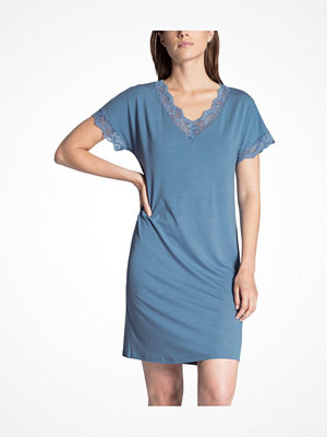 Nattlinnen - Calida Cosy Glam Nightshirt Blue