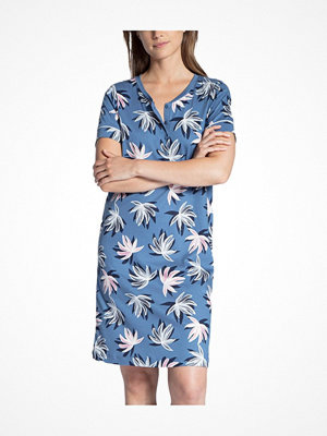 Nattlinnen - Calida Cosy Flowers Sleepshirt Blue