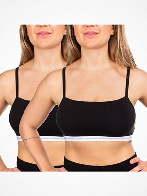 Calvin Klein 2-pack One Cotton Unlined Bralette Black