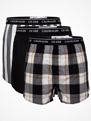 Calvin Klein 3-pack One Cotton Slim Fit Boxer Black pattern-2