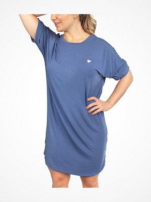 Missya Softness Modal Big Shirt Blue