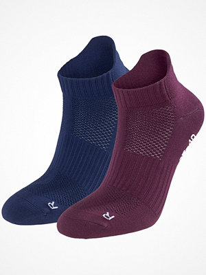 Strumpor - Pierre Robert 2-pack Low Cut Socks Women Navy/Red