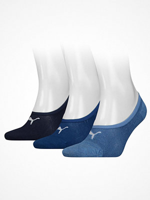 Strumpor - Puma 3-pack Footie Socks Blue