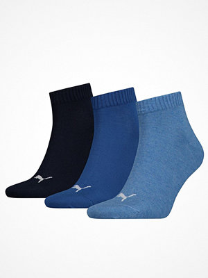 Strumpor - Puma 3-pack Quarter Socks Blue