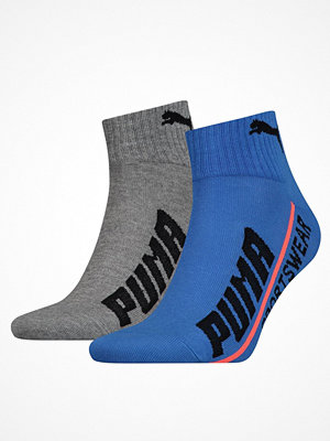 Strumpor - Puma 2-pack Quarter Logo Socks Blue/Grey