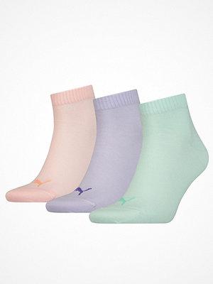 Puma 3-pack Quarter Socks Pink/Lilac