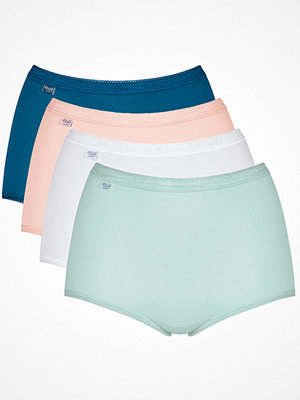 Sloggi 4-pack Basic Plus Maxi Panty Blue/White