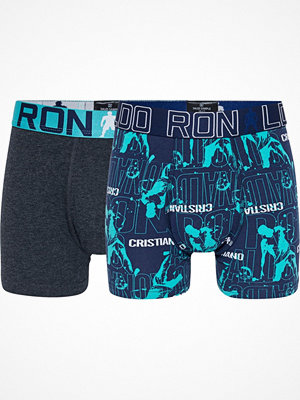 CR7 Cristiano Ronaldo 2-pack Boys Line Trunk Blue/Grey