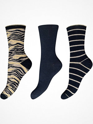 Strumpor - Decoy 3-pack Cotton Socks Black/Yellow