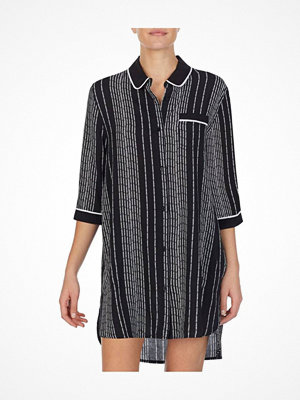 Nattlinnen - DKNY Color Theory Sleepshirt Black striped