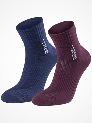 Strumpor - Pierre Robert 2-pack Mid Cut Socks Navy/Red