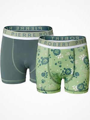 Pierre Robert 2-pack X Jenny Skavlan Kids Boxer For Boys Green