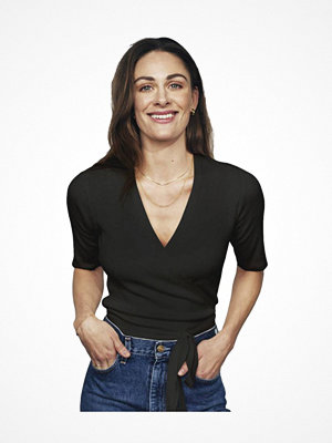 Pyjamas & myskläder - Pierre Robert X Jenny Skavlan Cotton Wrap Top Black