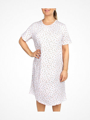 Nattlinnen - Trofé Trofe Cotton SS Nightdress Pink Floral