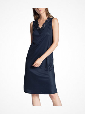 Calida Cosy Cotton Nights Embroidery Nightdress Navy-2