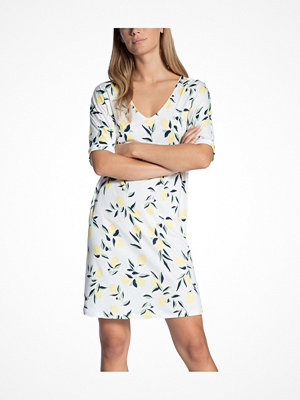 Nattlinnen - Calida Favourites Trend Loungedress White Pattern-2
