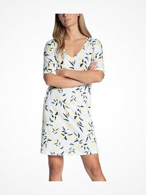 Calida Favourites Trend Loungedress White Pattern-2
