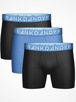 Frank Dandy 3-pack Blue Solid Boxers Black/Blue