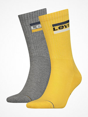 Strumpor - Levi's 2-pack Sport Regular Cut Sock Grey/Yellow