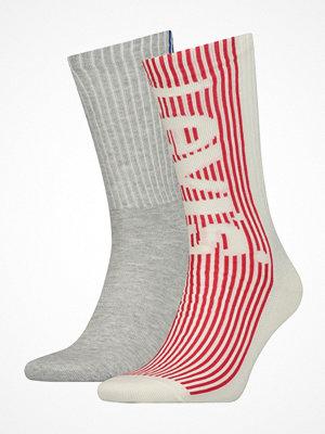 Strumpor - Levi's 2-pack Retro Regular Cut Sock Red/Grey