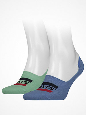 Strumpor - Levi's 2-pack Sportswear Logo Seasonal Low Rise Sock Blue/Green