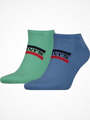 Levi's 2-pack Sportswear Logo Low Cut Sock Blue/Green