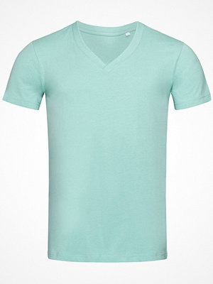 Stedman James Organic Men V-Neck Turquoise
