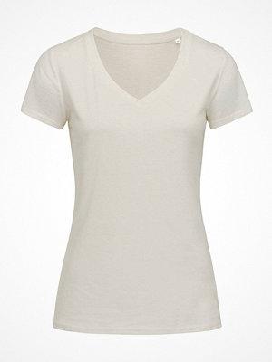Pyjamas & myskläder - Stedman Janet Organic Women V-Neck Creme